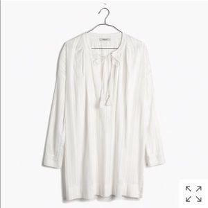 Madewell Tahoe Coverup Tunic Dress White Cotton